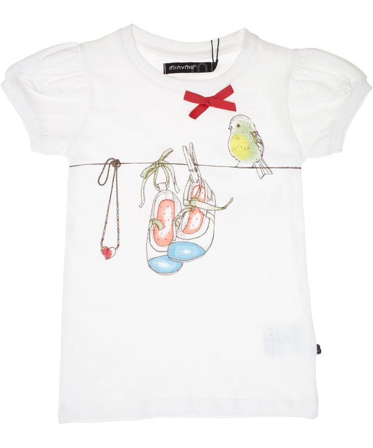 Minymo witte t-shirt met glitter schoenen. minymo.nl.emilea.be