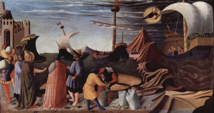 """One of the scenes of Fra Angelico's """"Life of St. Nicholas,"""" from the Pala di Perugia"""