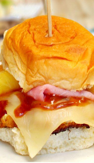 Hawaiian Chicken Burgers. • 1lb. extra lean ground chicken • ¼ ...