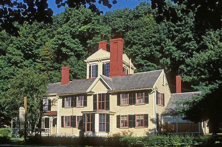 Nathanial Hawthorne, Wayside, Concord, MA The Homes of Ten Literary Greats   Architectural Digest