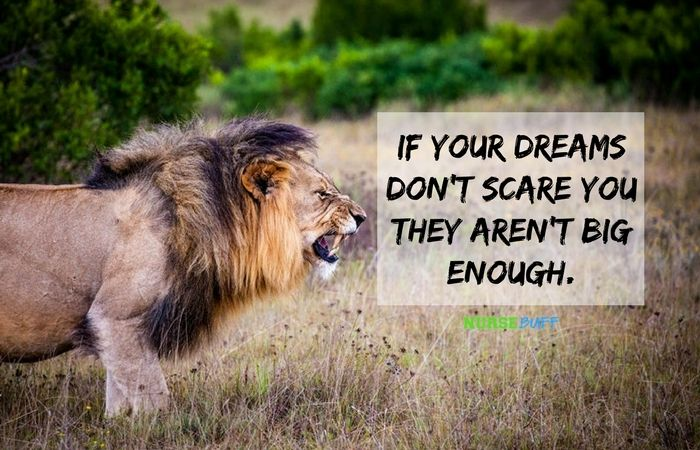 If your dreams don't scare, you they aren't big enough. Share today's nursequote if you agree!#nursbeuff #nursequote #nursingquote ♥️ Connect withNurseBuffonFacebook,Pinterest, andTwitter!