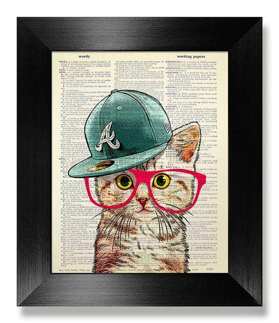 Cat ringard Art Print dictionnaire Art Print par MEOWconcept