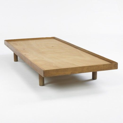 Charlotte Perriand; Oak Daybed Platform for Galerie Steph Simon, 1959