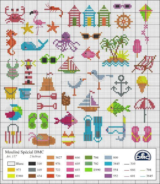 Dmc's blog: summery diagrams Cross Stitch