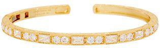 Judith Ripka 14K Clad Diamonique Baguette Cuff Bracelet