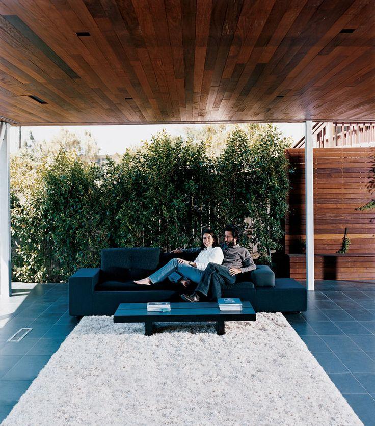 Exposed Living Room - Polder Sofa by Hella Jongerius for Vitra
