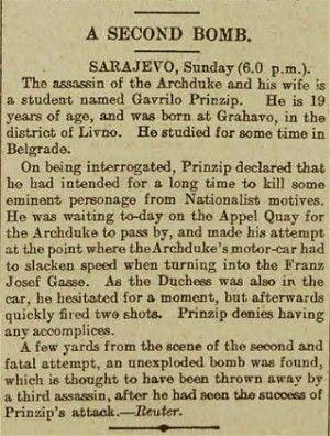 Archduke franz ferdinand assassination essays