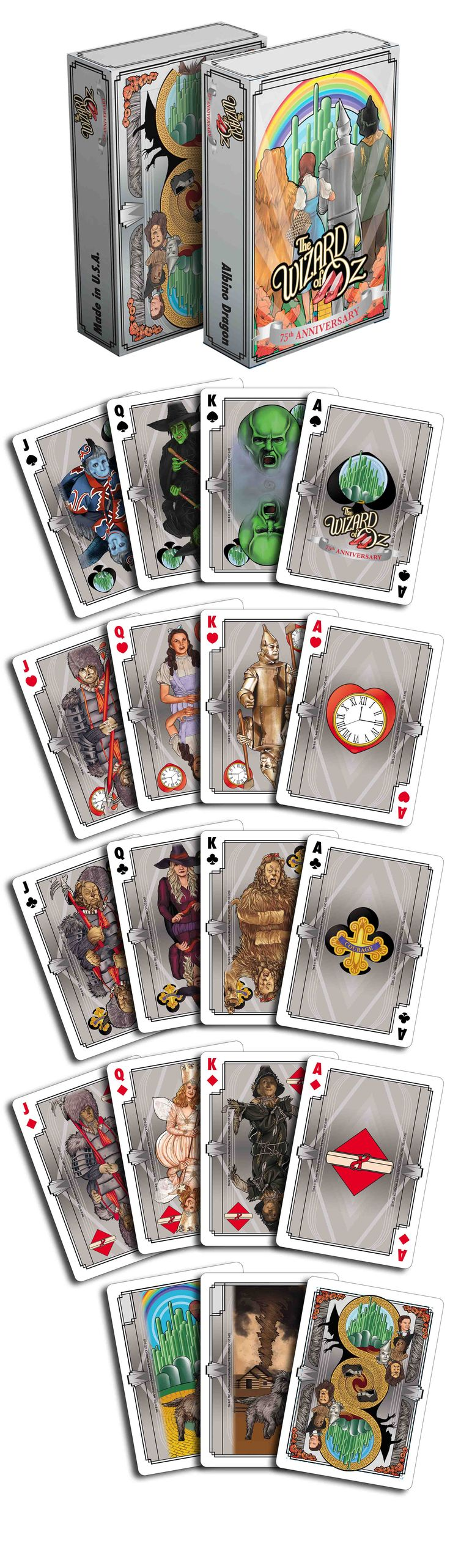 The Wizard of Oz 75th Anniversary in Oz by Albino Dragon. The tuck box is silver foil, so you can see yourself in Oz! ;) These are beautiful.  Now available on www.albinodragon.com