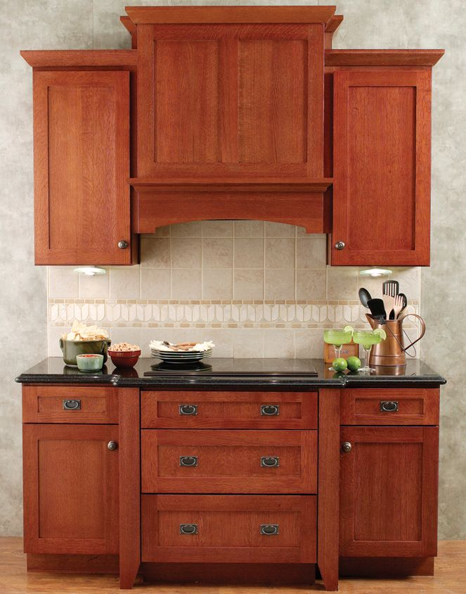 Cabinetry  ~Integral Hood is designed to fit between wall cabinets.