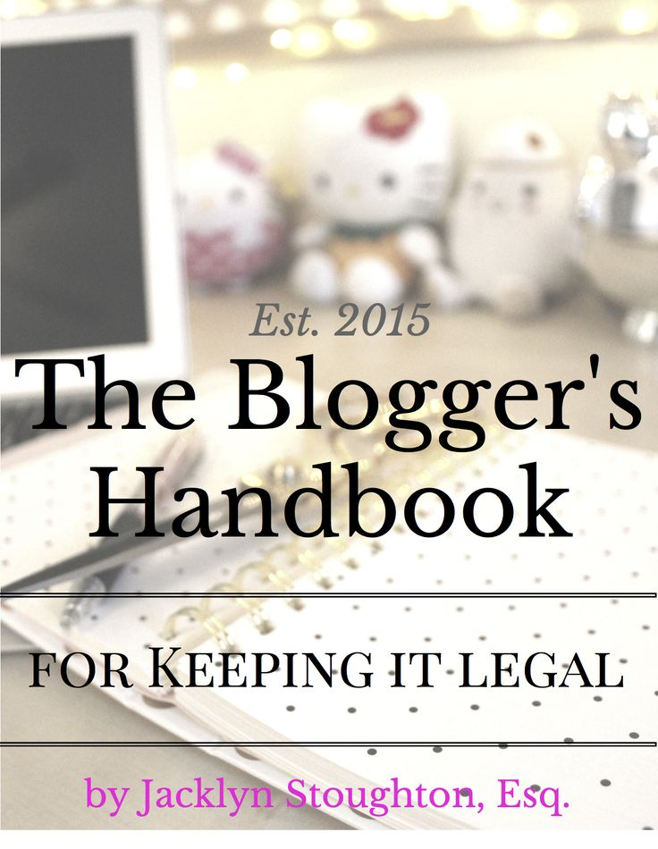 Confused about legal issues in blogging? Then you need this comprehensive guide on legal basics for bloggers! This ebook is the perfect reference guide for all of your legal blogging questions. Buy NOW for a free BONUS!