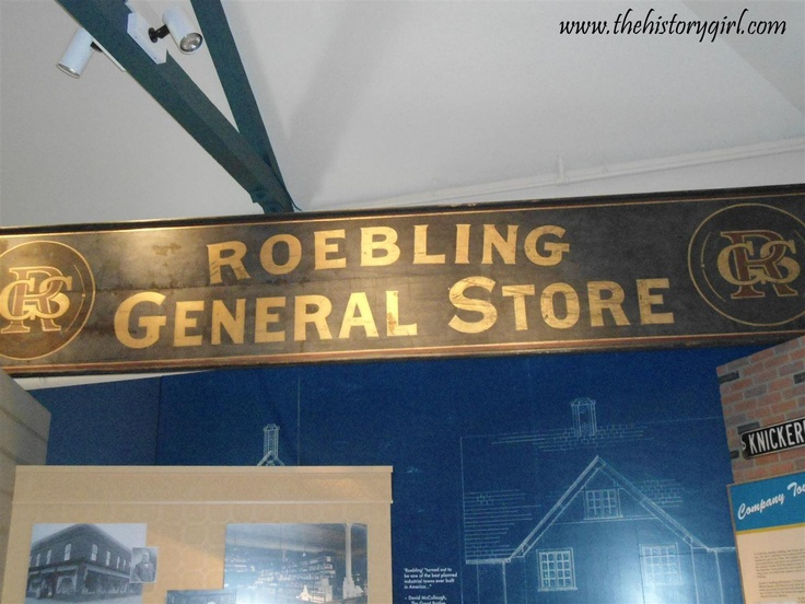 Sign from the Roebling General Store, now preserved inside the Roebling Museum, Roebling, NJ.