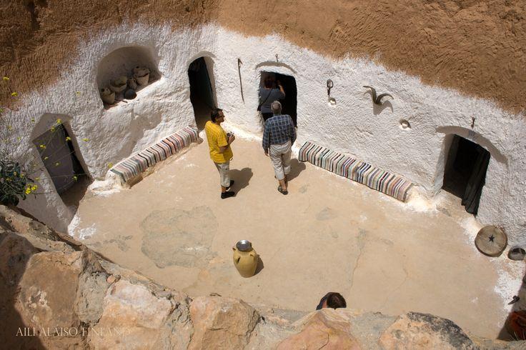 The cave dwelling in Matmata Luola-asunto Matmatassa,Tunisia by Aili Alaiso Finland