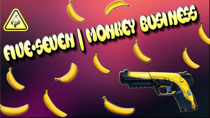 "CS:GO-TOP 5-Sticker Combinations: ""Five-SeveN""   Monkey Business (Обезья..."