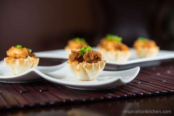 Blackened Shrimp & Chipotle Slaw Phyllo Bites | Inspiration Kitchen
