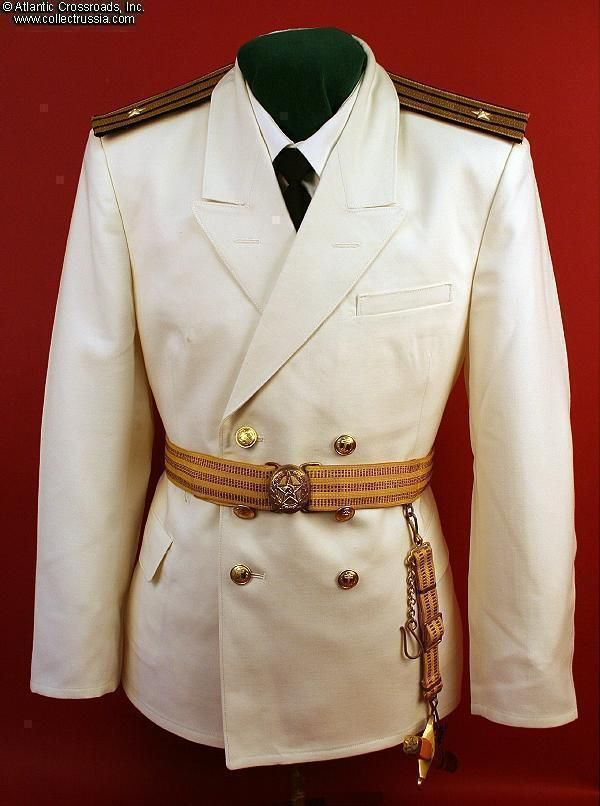 """Collect Russia Unissued Soviet Navy """"Full Dress Uniform #1, summer parade, for officers, warrant officers and extended service personnel"""" complete with a pair of unissued gold bullion shoulder boards. Soviet Russian"""
