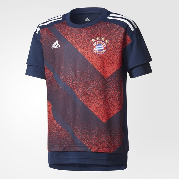 adidas FC Bayern Munich Pre-Game Home Jersey - Kids Soccer Jerseys