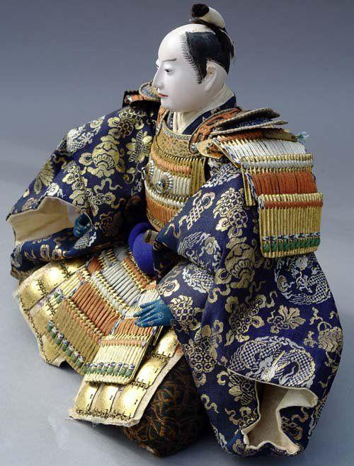 indigodreams: Japanese Antique Musha Ningyo Doll, Emperor General