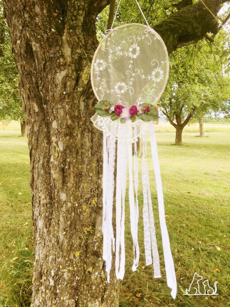 Boho Traumfänger spitze Blumen Bohemien weiß Hochzeit Garten