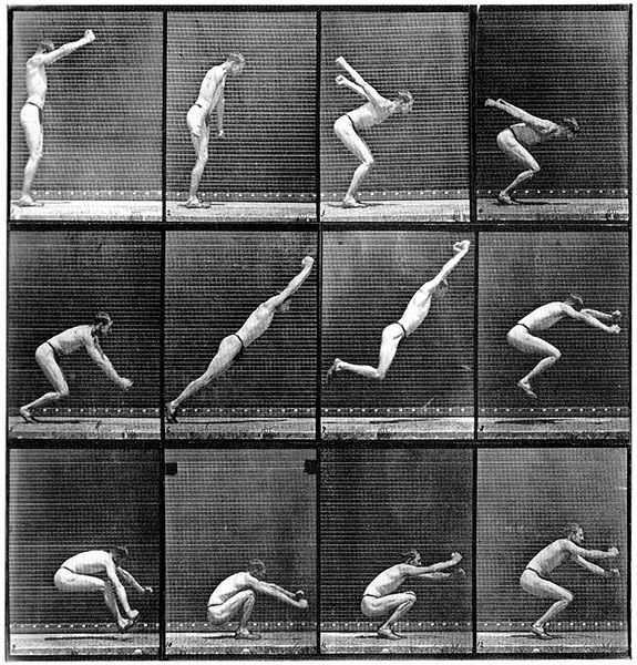 "Long Jump, 1887, from ""Human and Animal Locomotion"", photo by Eadweard Muybridge"