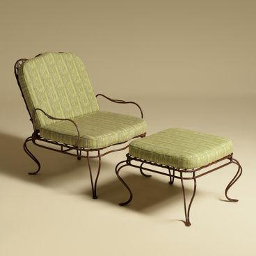 Twig Iron Garden Lounge Chair U0026 Ottoman