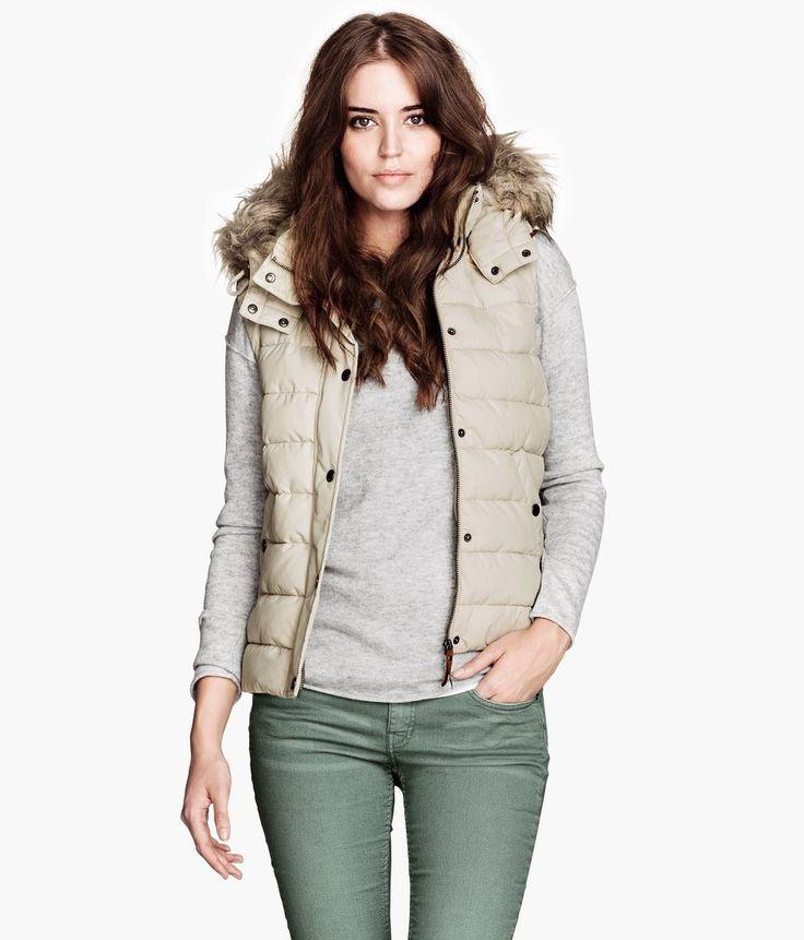 Amazon.co.jp: ファーフード付き ダウン ベスト レディース: 服&ファッション小物通販