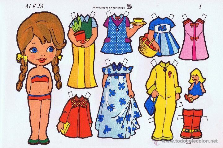 Coleccionismo Recortables: Recortables de muñecas Alicia. Colección completa 10 láminas . Manualidades Recreativas (IMA, 1975) - Foto 4 - 57684640