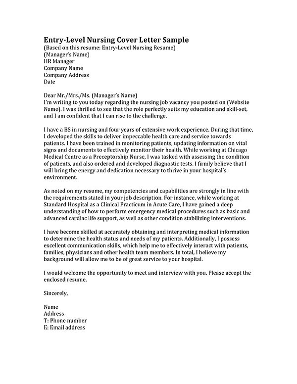 Best  Nursing Cover Letter Ideas On   Employment