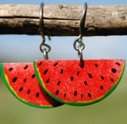 Colorful summer fresh water melon earrings | Whimsical Jewelry Eshop