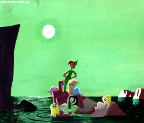 Peter and the Mermaids  Concept Art for Peter Pan by Mary Blair
