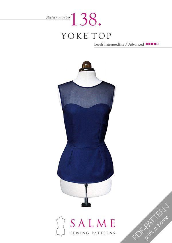 Pattern no 138 Yoke top