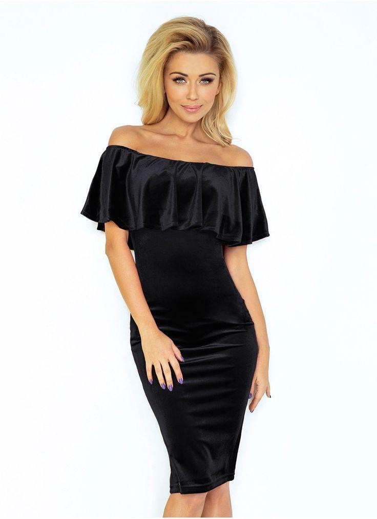 Štýlové šaty v elegantnej čiernej farbe NUMOCO