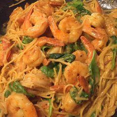 21 day fix Cajun Shrimp Fettuccini Alfredo