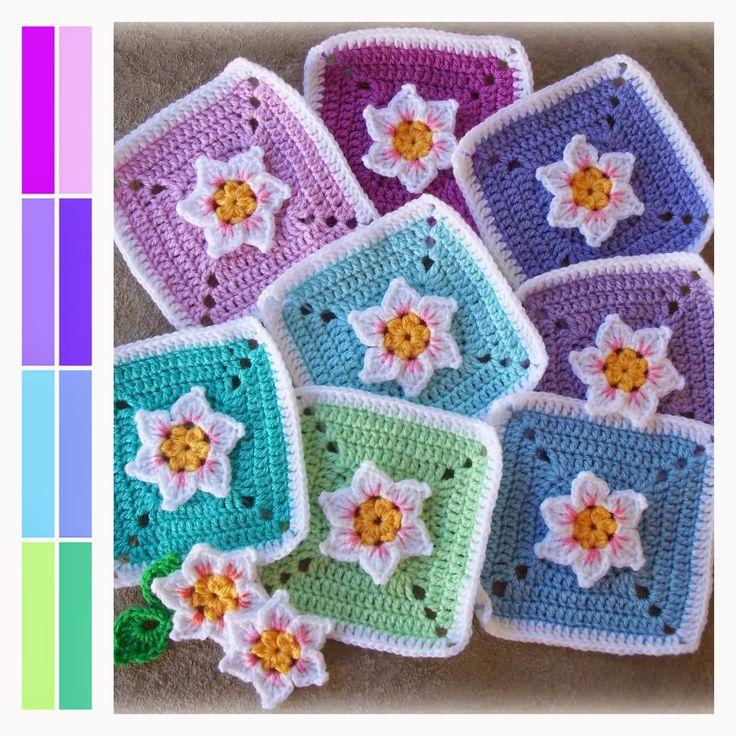 391 best Crochet Granny Squares images on Pinterest | Crochet ...