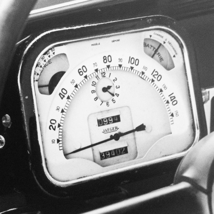 "Dashboard detail, 1934 Citroen Traction Avant.  Photograph by Tif Hunter. Published in Stephen Bayley's marvelous ""Cars."""