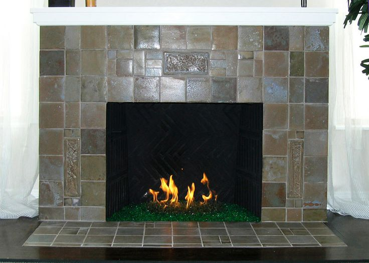 Love this fireplace tile -- surround and floor