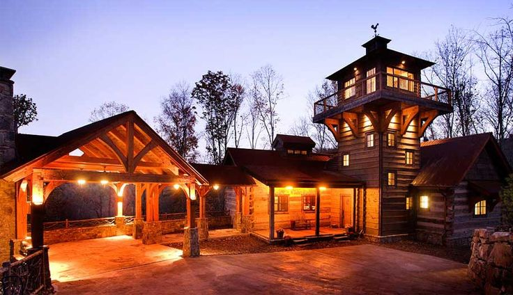 Luxury log homes winterwoods homes dobie mountain for Luxury log home