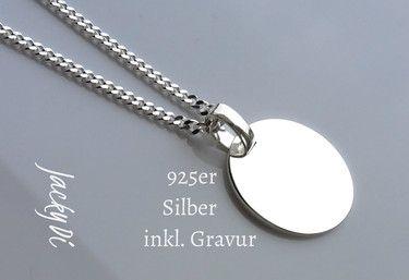 Wunderschöne 925er Silber Halskette inkl. Wunschgravur- eine persönliche Botschaft mit Diamant graviert!