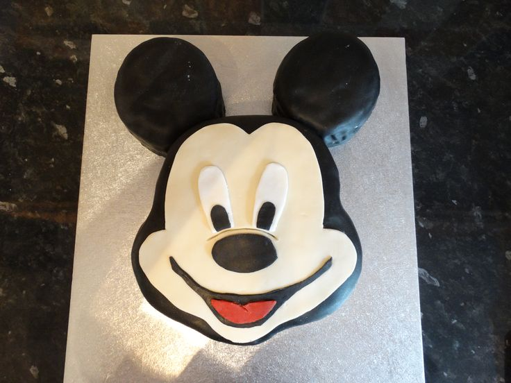 Mickey Mouse character cake - vanilla sponge topped with fondant. #mickey #mouse #disney #cake