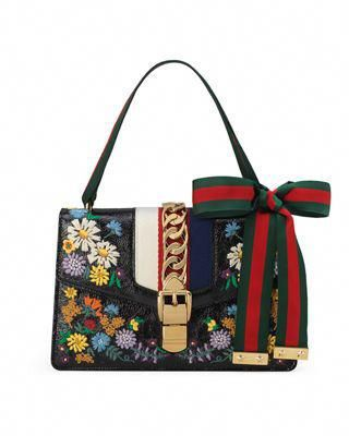 1aeaf767a Gucci Sylvie Small Floral Leather Shoulder Bag #Guccihandbags ...