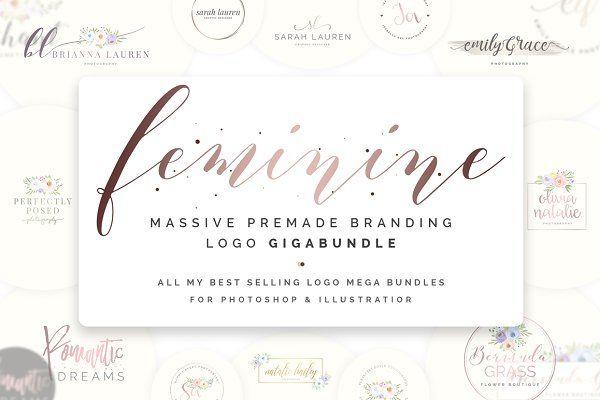Logo Templates - Feminine Premade Logo Gigabundle