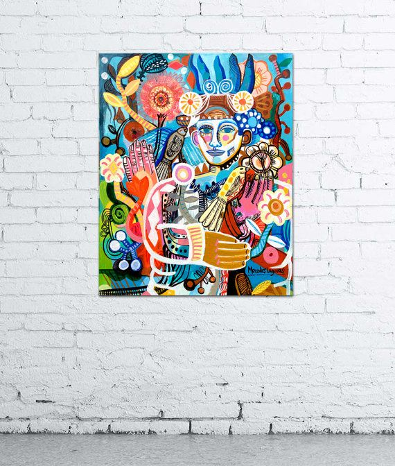 Hey, I found this really awesome Etsy listing at https://www.etsy.com/listing/486556670/high-spirited-cubism-painting-original