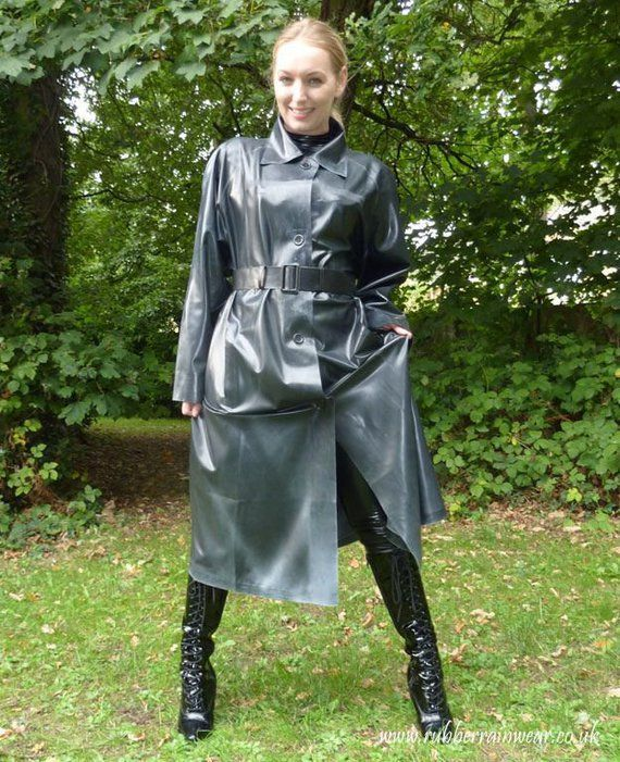 Rubber mac over rubber clothes