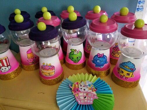 Shopkins centerpieces candy jars