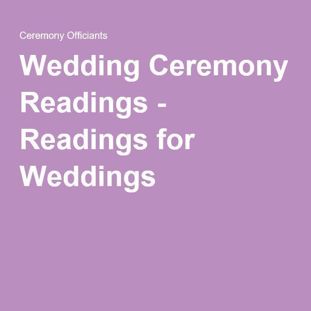 Non Religious Wedding Reading: Wedding Ceremony Readings