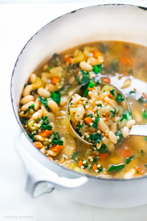 Tuscan Cannellini Bean Stew with kale, fennel and an ancient, gluten free grain called Sorgumn!