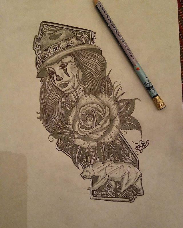 #pksart#california#drawing #lowriderarte #lowriderart#pencildrawing #dibujo#thankforyoursupportonmyartfrieds #artlovers #califas#choloart#californiastate#tattooidea #tatuajes#dibujosalapiz #payasita#oso#rosa#