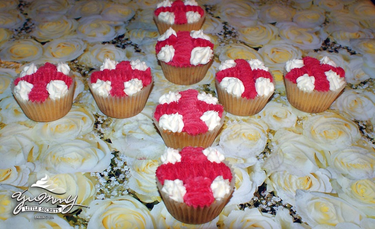 St. George's Day Cupcakes
