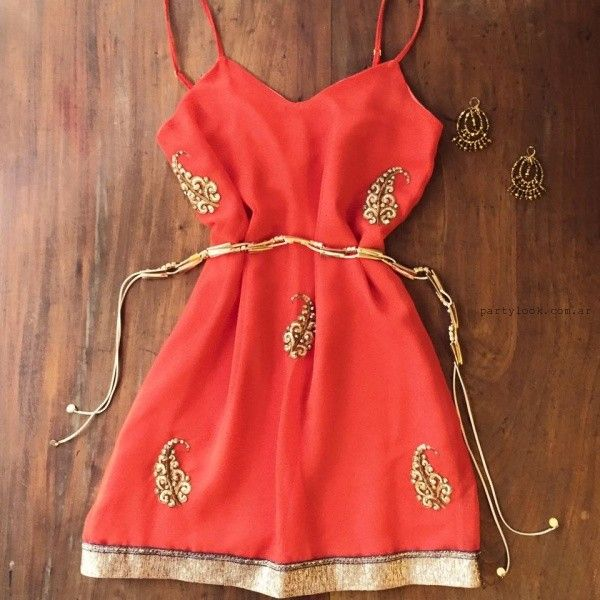 vestido rojo bordado verano 2016 Love Pajaro Vestidos invierno 2016