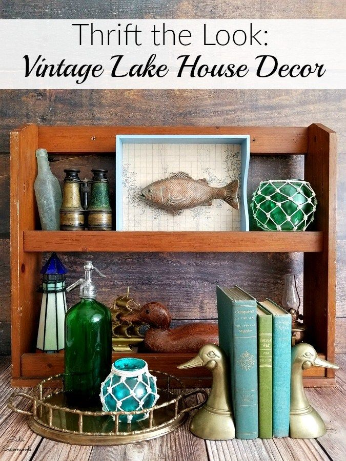 Lake House Decor And Lake House Decorating Ideas From The Thrift Store Lakehouse Decor Thrift Store Crafts Trendy Home Decor