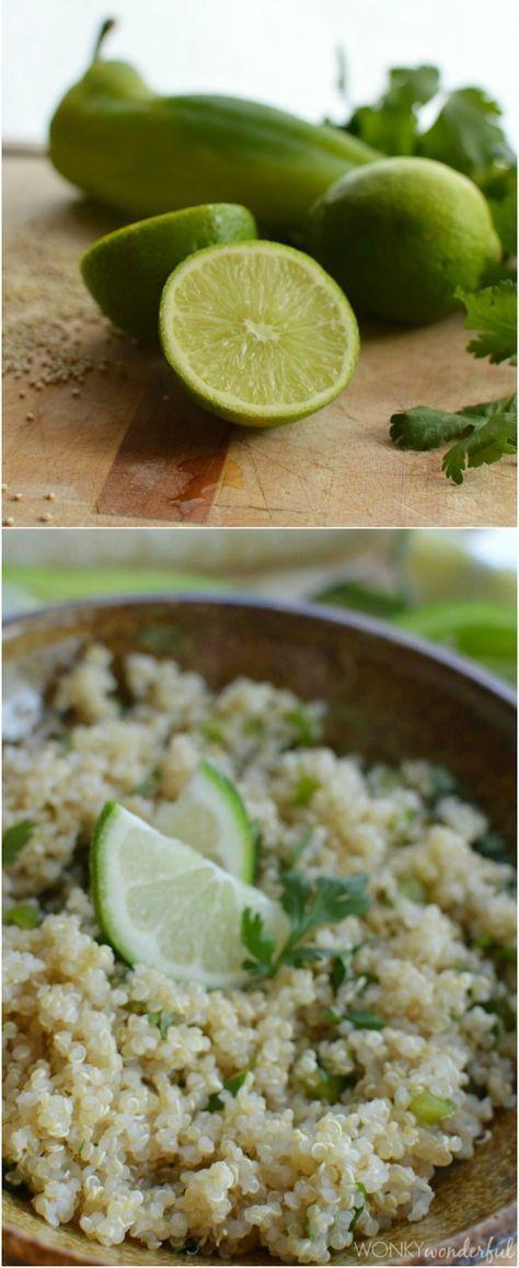 Cilantro Lime Quinoa - gluten free recipe - healthy alternative to rice. #glutenfree #quinoa